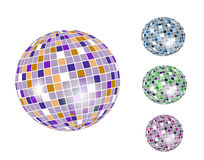 Colorful discoball icon set Royalty Free Stock Photography