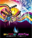 Colorful Discoteque Flyer. Rainbow Colorful Discoteque Event Flyer Royalty Free Stock Images