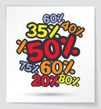 Colorful discount element Stock Photo