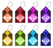 Colorful Discount Labels Stock Photos