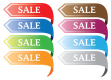 Colorful discount labels Royalty Free Stock Photos