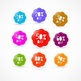 Colorful Discount Labels Set Royalty Free Stock Images