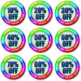 Colorful discount set Stock Photo