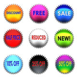 Colorful discount set Stock Images