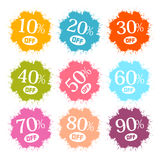 Colorful Discount Splashes Stock Image