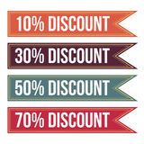 Colorful Discount Tag Banner Stock Photo