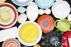 Colorful dishes Stock Images