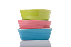 Colorful Dishes Royalty Free Stock Photo