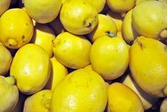 Colorful Display Of Lemons Stock Photo