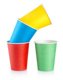 Colorful disposable cups Royalty Free Stock Photo