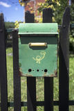 Colorful Distressed Rural Mailbox Stock Photo