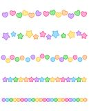 Colorful Divider border. Colorful page border / divider collection stock illustration