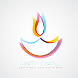 Colorful diwali diya. Stylish colorful diwali diya on white background