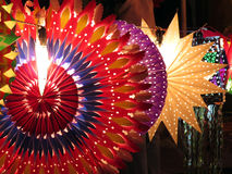 Colorful Diwali Lanterns. Colorful traditional lanterns lit up on the occassion of Diwali / Christmas festival in India