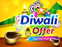 Colorful diwali sale background Stock Images