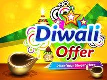 Colorful diwali sale background. Vector illustration Stock Images