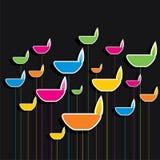 Colorful diya pattern background Stock Image