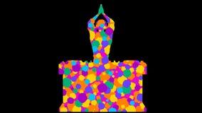 Colorful DJ. Alpha channel. Alpha matte. Full HD. stock video