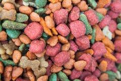 Colorful dog  food grain Royalty Free Stock Photo