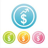 Colorful dollar signs Stock Photo