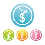 Colorful dollar signs Royalty Free Stock Photography