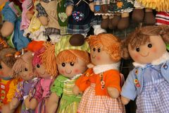 Colorful dolls Royalty Free Stock Images