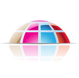 Colorful Dome Abstract Icon Royalty Free Stock Images