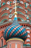 Colorful dome in St. Basil Cathedral Stock Photo