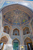 Colorful dome of tilya-kori madrasah, Samarkand Registan Royalty Free Stock Photo