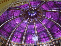 Colorful domed ceiling. With purple stained glass Royalty Free Stock Photography
