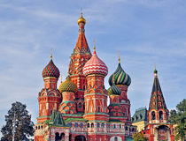 Colorful domes of moscow churches Royalty Free Stock Photography