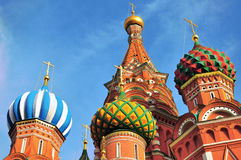 Colorful domes of moscow churches Royalty Free Stock Photo