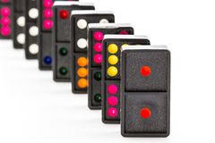 Colorful domino. Stock Photos