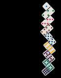 Colorful dominoes in numerical order Royalty Free Stock Image