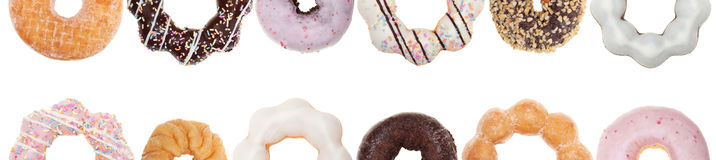 Colorful Donut Border Royalty Free Stock Images