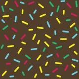 Colorful Donut Glaze Seamless Pattern Stock Image