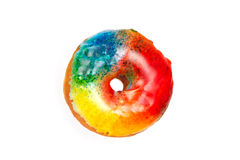 Colorful Donut Isolated on a White Background Stock Images
