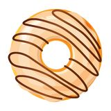 Colorful donut on white background stock photo