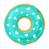Colorful donut on white background stock images