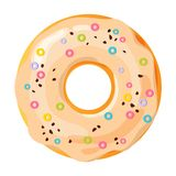 Colorful donut on white background vector illustration