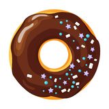 Colorful donut on white background royalty free stock photography