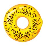 Colorful donut on white background stock photos