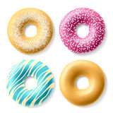 Colorful donuts vector illustration