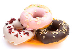 Colorful donuts with clipping path Royalty Free Stock Photography