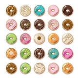 Colorful Donuts. Lovely and yummy Royalty Free Stock Photos