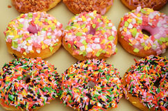 Colorful donuts Stock Photos