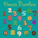Colorful Donuts Numbers stock photography