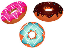 Colorful Donuts Set Vector Illustration Royalty Free Stock Image