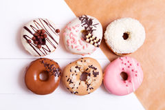 Colorful donuts Stock Images
