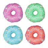 Colorful donuts on white background Royalty Free Stock Image